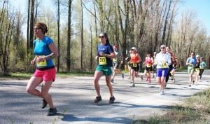 Women Running in Spring Runoff 5K