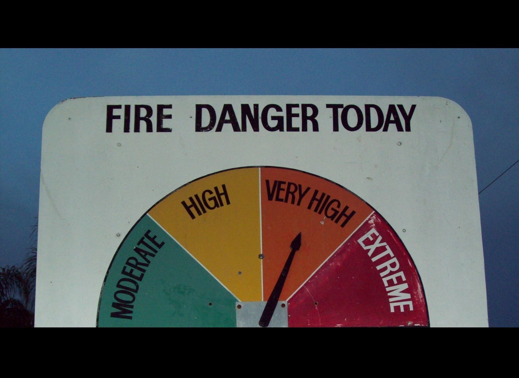 Fire Danger Sign
