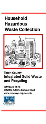 Household Hazardous Waste Collection Brochure cover