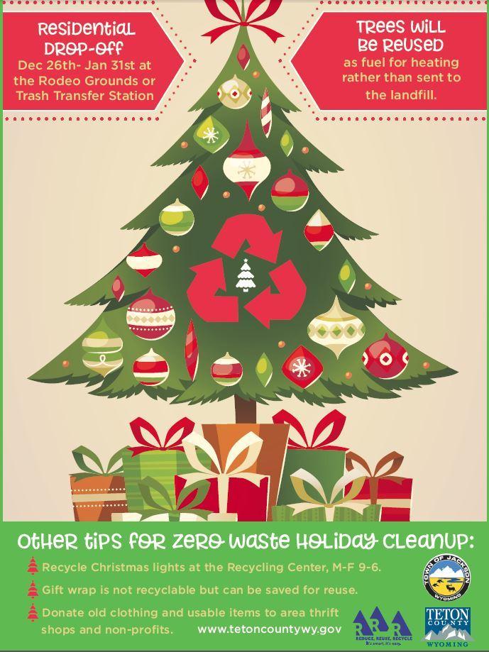 Christmas Tree Recycle.Teton County Wy